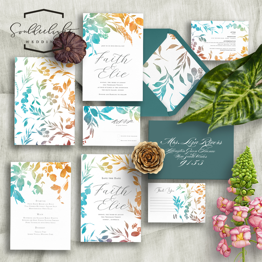 Wedding Invitation Card Design: Souldeelight Design Studio