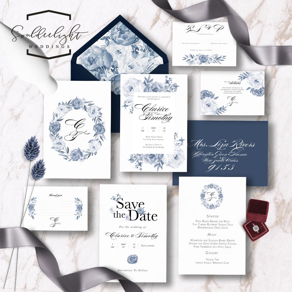 Wedding Invitation Cards.Printable Semi Custom Wedding Invitation Card Suite