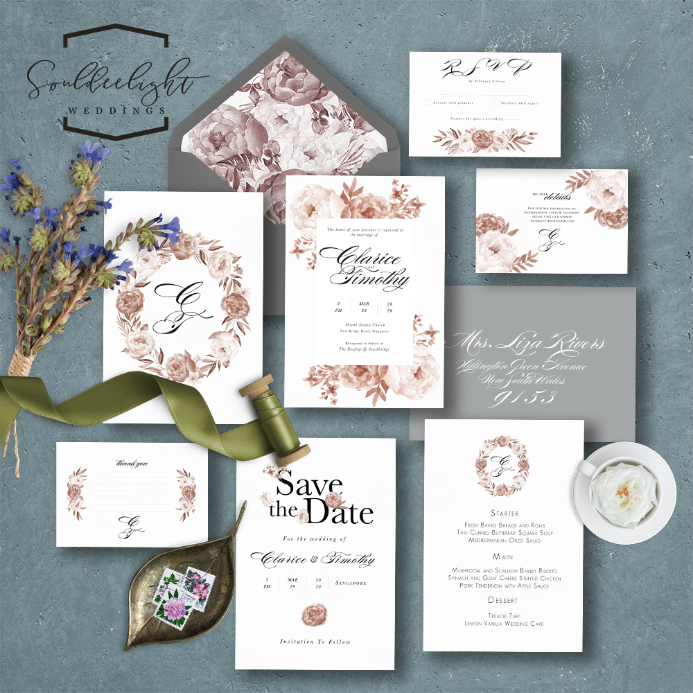 Wedding Invition Cards.Printable Semi Custom Wedding Invitation Card Suite