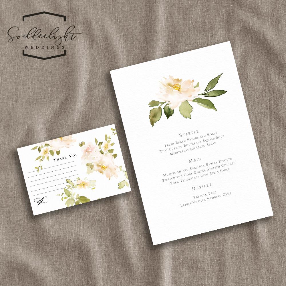 Semi Custom Wedding Invitation Card Suite