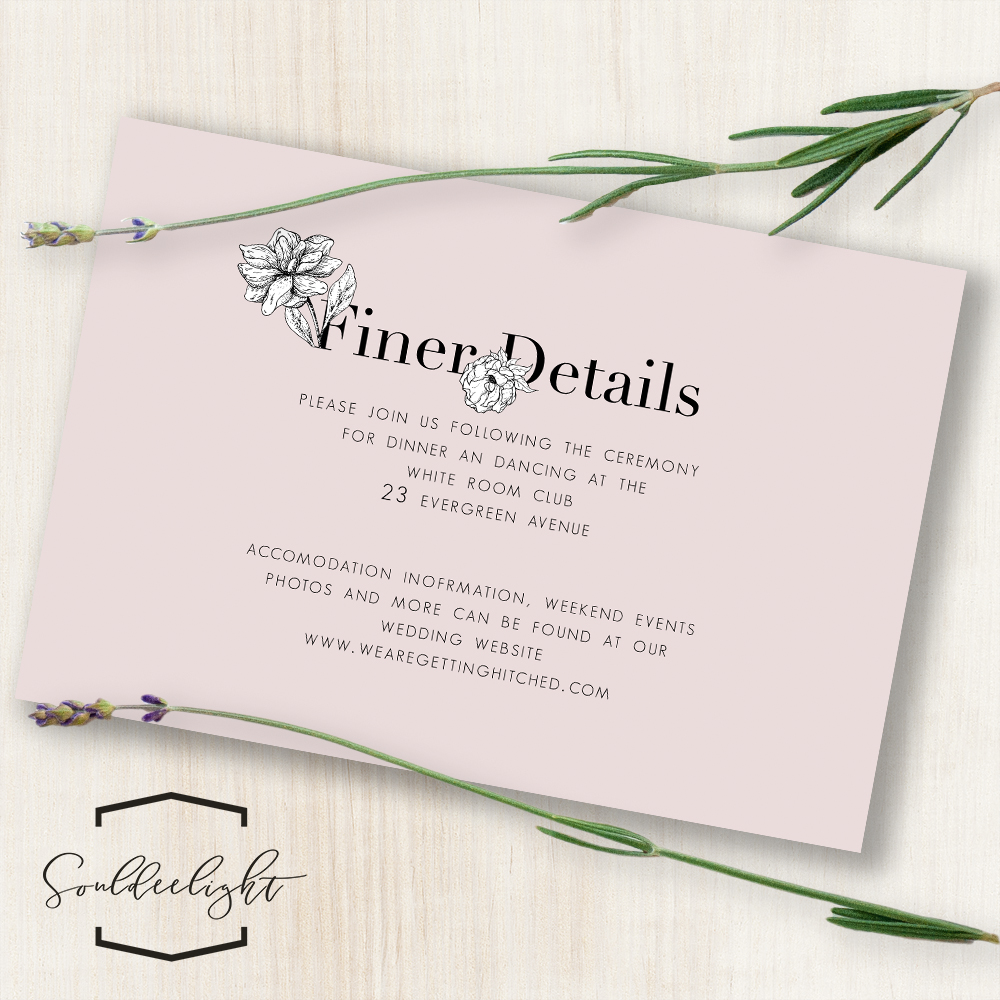 Details And Reception Card